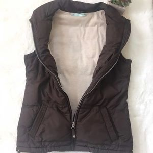 Lined Brown Bubble Vest